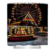 Fairground At Night Shower Curtain