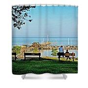Fairhope Alabama Pier Shower Curtain