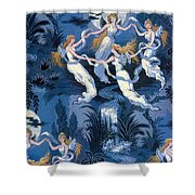 Fairies In The Moonlight French Textile Shower Curtain