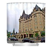Fairmount Chateau Laurier East Of Parliament Hill In Ottawa-on Shower Curtain