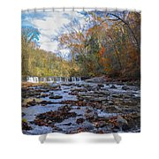 Fairmount Park - Wissahickon Creek In Autumn Shower Curtain