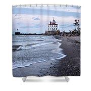Fairport Harbor Breakwater Lighthouse Shower Curtain