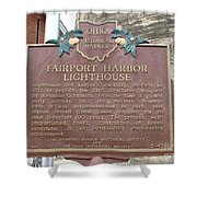 Fairport Harbor Lighthouse Shower Curtain
