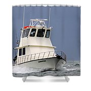 Fairwater II - Parting Waves In The Gulf Of Mexico Shower Curtain
