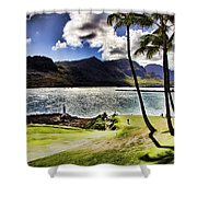 Fairway In Paradise Shower Curtain