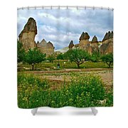 Fairy Chimneys In Cappadocia-turkey Shower Curtain