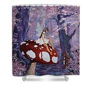 Fairy On A Mushroom Shower Curtain
