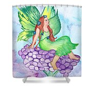 Fairy On Lilac Shower Curtain