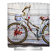 Fairy Tale Bike Flying Machine Shower Curtain
