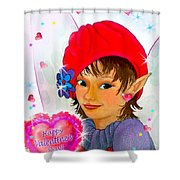 Fairy Valentine Shower Curtain