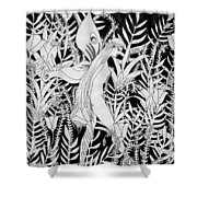 Fairy Walks In Flowers Shower Curtain