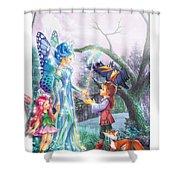 Fairy Wand Shower Curtain