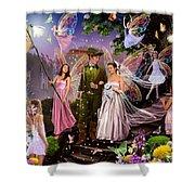 Fairy Wedding Shower Curtain