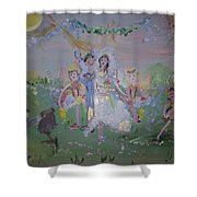 Fairy Wedding Shower Curtain