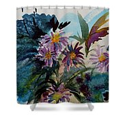 Fairyland Asters Shower Curtain