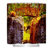 Fairytale Bridge Shower Curtain
