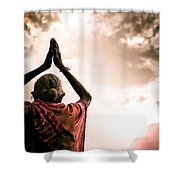 Faith And Prayers For Peace Shower Curtain by Nila Newsom