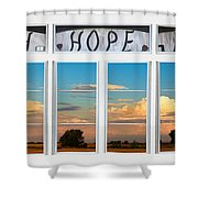Faith  Hope Love Nature Window View Shower Curtain