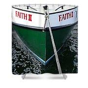 Faith II Fishing Boat Shower Curtain