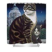 Faith, The St. Paul's Cat Shower Curtain