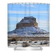 Fajada Butte In Snow Shower Curtain