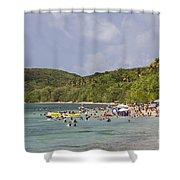 Fajardo Beach In  Puerto Rico Shower Curtain