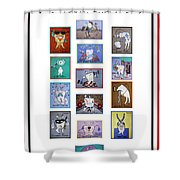 Falboart Tooth Chart Shower Curtain