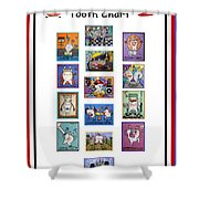 Falboart Tooth Chart Number 2 Shower Curtain