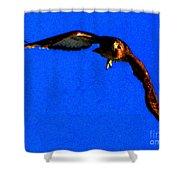 Falcon In Blue Shower Curtain