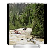 White Water Rafting On The Animas Shower Curtain