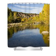 Fall Along River Sierra Ancha Shower Curtain