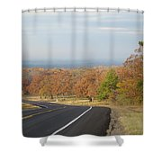 Fall Along The Country Highway 2 Shower Curtain