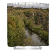Fall Along The Creek Shower Curtain