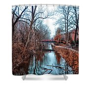 Fall Along The Delaware Canal Shower Curtain