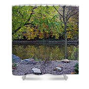 Fall Along The Scioto River Shower Curtain