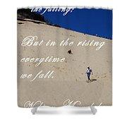 Fall And Rise Shower Curtain