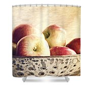 Fall Apples Shower Curtain