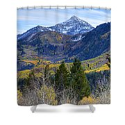 Fall At Cascade Peak And Sundance From Alpine Loop  Shower Curtain