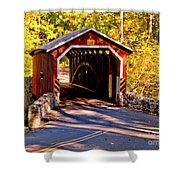 Fall At Kurtzs Mill Covered Bridge Shower Curtain