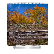 Fall At Last Dollar Road Shower Curtain