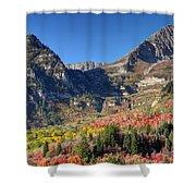 Fall At Mt. Timpanogos From Sundance - Utah  Shower Curtain