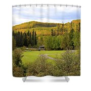 Fall At The Course Shower Curtain