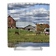 Fall At The Horse Farm Shower Curtain