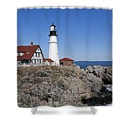 Fall At The Lighthouse Shower Curtain