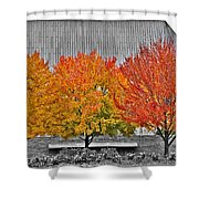 Fall At The Mann Shower Curtain