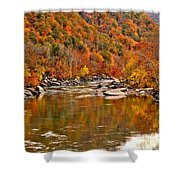 Fall Brilliance At New River Shower Curtain