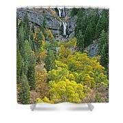 Fall Color And Waterfalls In Provo Canyon Utah Shower Curtain