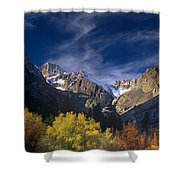 Fall Color Below Middle Palisades Glacier Eastern Sierras California Shower Curtain
