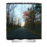 Fall Color Blur Shower Curtain