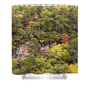 Fall Color In Little River Canyon Shower Curtain